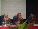 Kasudin Jakarta Timur, Dr.Hj. Rita Haryani  sedang memberikan arahan
